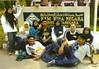 Bergambar di hadapan tugu KBN Meru, Klang sebelum bersiap untuk bertolak balik ke rumah masing-masing...