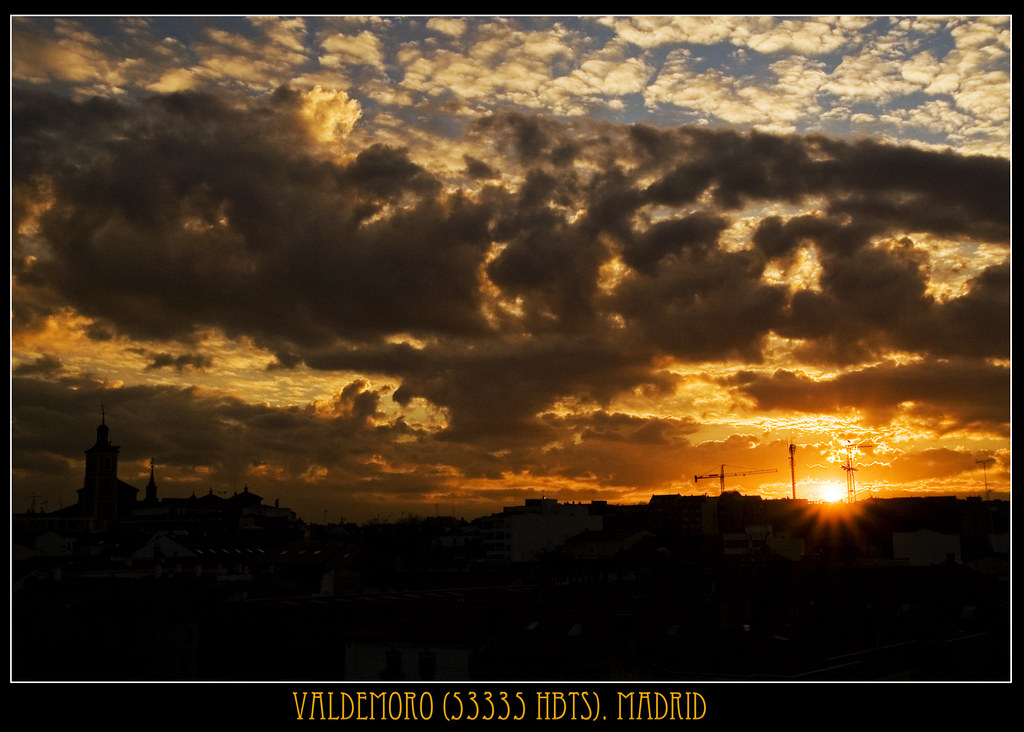 puesta de sol en valdemoro