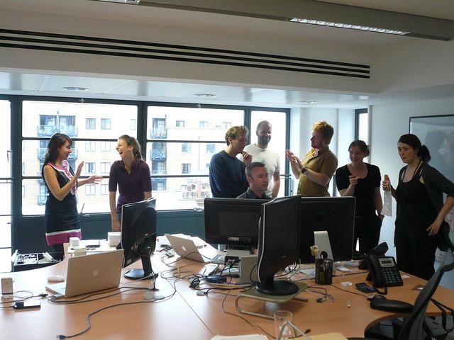 Sala de reuniones de una startup