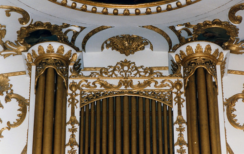 Great Witley, Worcestershire, St. Michael and All Angels, organ, detail