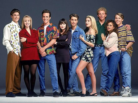 "The original cast of ""Beverly Hills, 90210"""