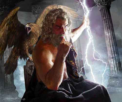 zeus the god of thunder: