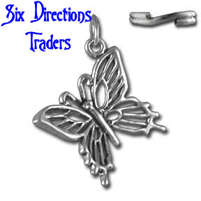 Solid Sterling Silver Butterfly Charm