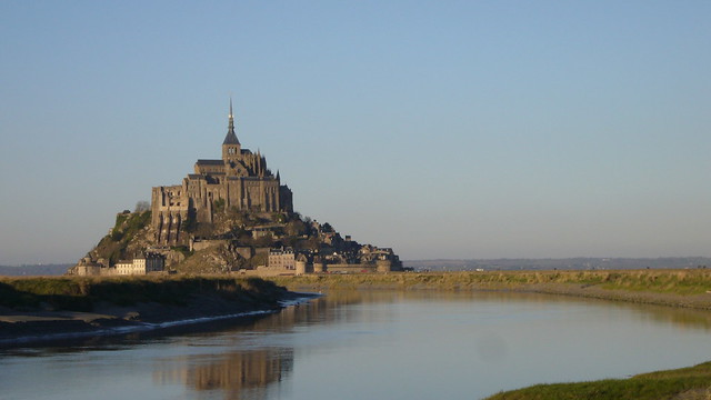 Mont St. Michel in winter