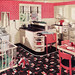 1936 Pink Polka Dot Kitchen