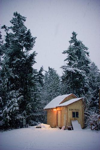 winter mountain snow cold ice studio shack