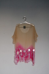 Silk chiffon sheer hand dyed top