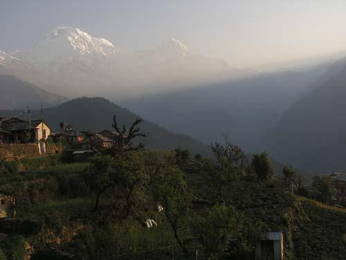 small village on the way to ABC, Sanctuary of Annapurnas