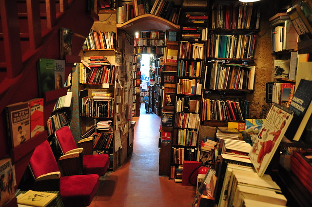 Shakespeare and Company, a famous bookshop in Paris.