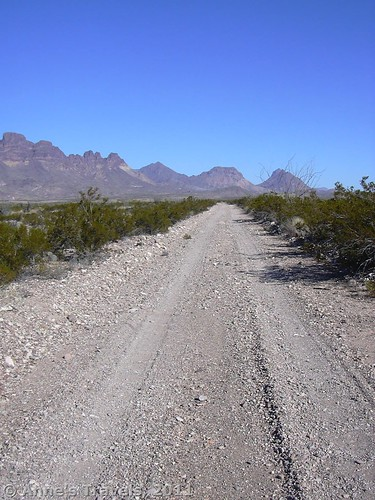 One of the nicer sections of the River Road in Big Bend National Park, Texas