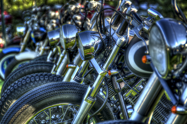 Bike row - HDR