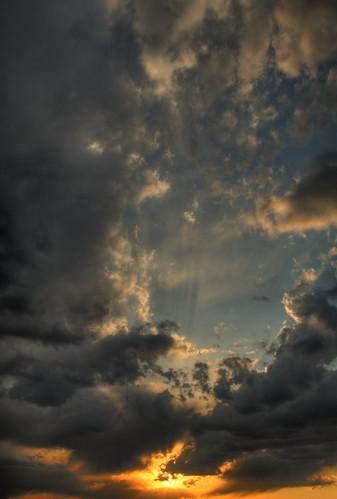sunset rays hdr midlothian