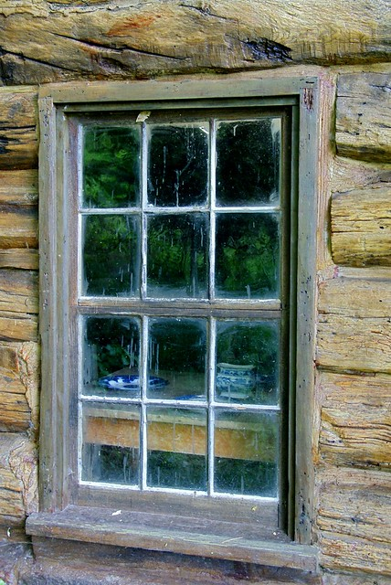 Window At The Millard Fillmore Log Cabin Flickr Photo