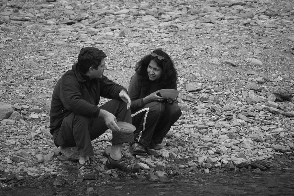 Couples Panning for Gold