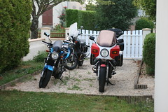 bikes parked up