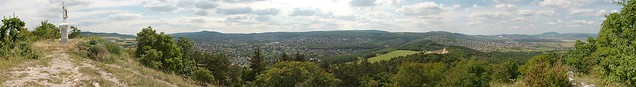 Pesthidegkúti panoráma a Kálvária hegyről