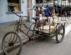 rickshaw, wheel, vehicle, mode of transport, land vehicle, tricycle,