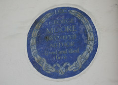 Photo of George Moore blue plaque