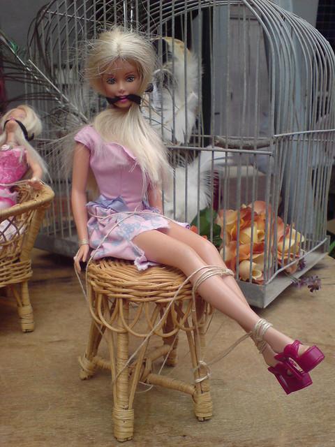 bondage barbie @ crown st market | Flickr - Photo Sharing!