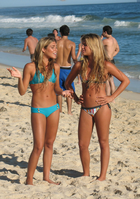 sexy babes on the beach