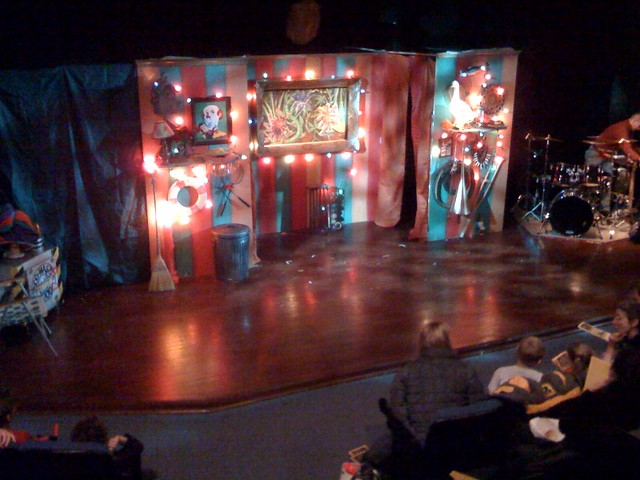 The stage for Aladdin