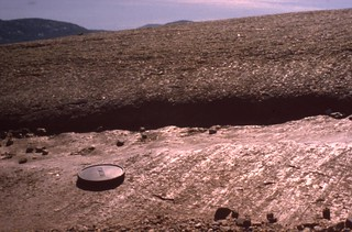 Glacial striations and polish