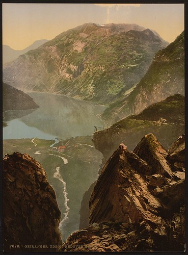 [General view towards Merok, Geiranger Fjord, Norway] (LOC)