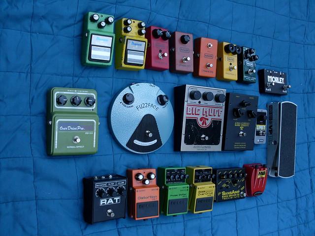 Photo:Matt's Pedals Left By Roadside Guitars