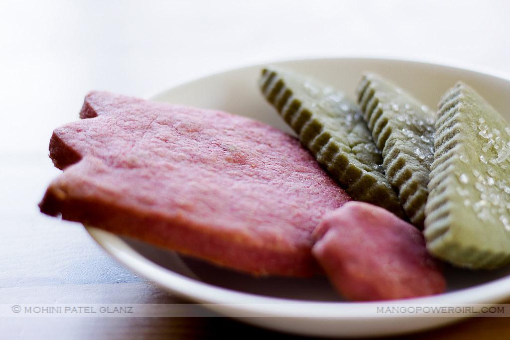 pink & green spring shortbread