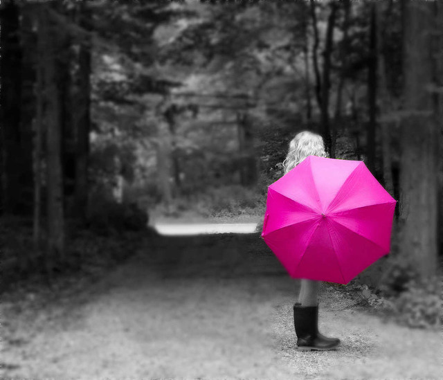 Girl with the Pink Umbrella