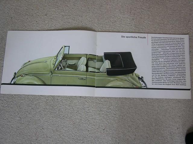 vw k fer prospekt cabrio volkswagen 60er 18 seiten. Black Bedroom Furniture Sets. Home Design Ideas