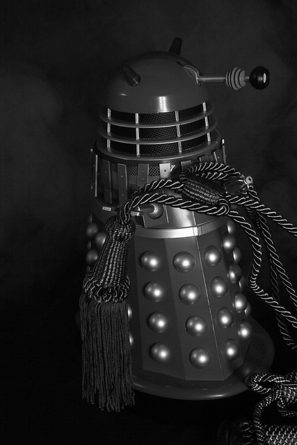 B&W DEKORATOR DALEK FROM THE GAY DALEK SERIES