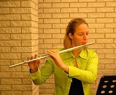 flute, yellow, western concert flute, flautist, wind instrument,