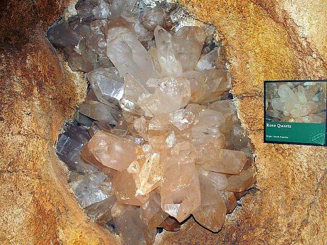 Quartz Crystal Cave Rose Quartz found insi...