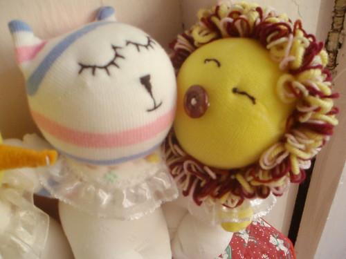 little lion n cat. – sock dolls