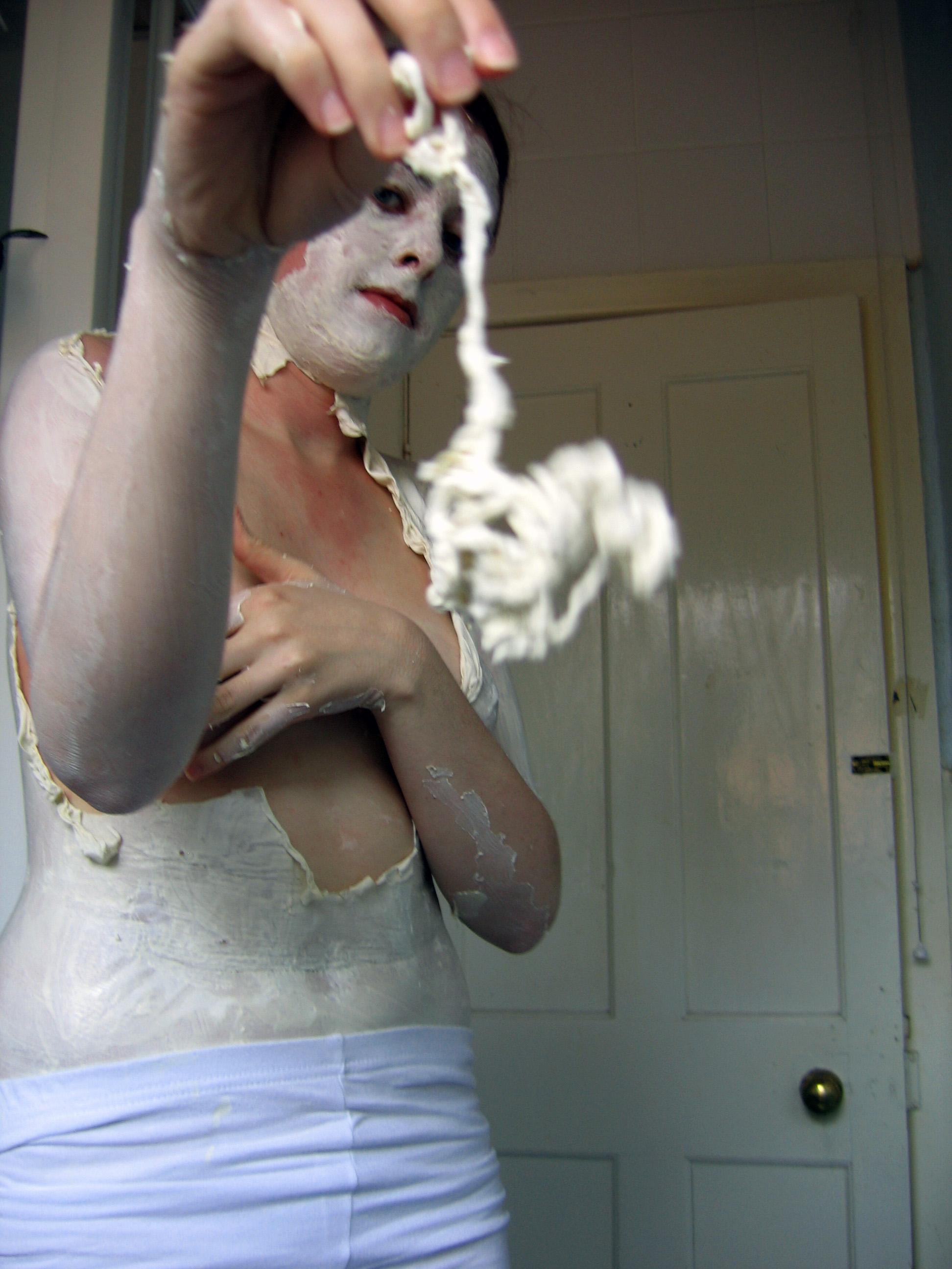 white bodypaint