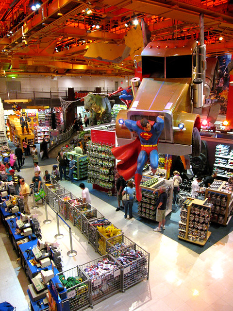 """Toys """"R"""" Us closed its flagship store in Manhattan's Times Square, a huge tourist destination, about two years ago."""