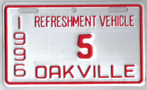 OAKVILLE, ONTARIO 1996 Refreshment vehicle