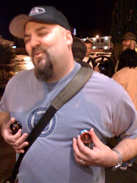Nick with my modded yo-yos
