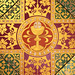 Eucharistic tiles in Cheadle by Lawrence OP