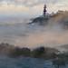 sea smoke, Head Harbour lighthouse by Head Harbour Lightstation