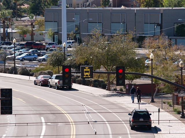 Valley metro light rail approaching light flickr photo sharing