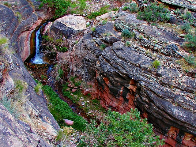 waterfall near indian garden grand canyon flickr