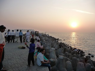 The Point at Sunset - Mumbai, India