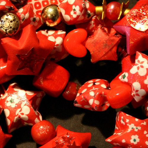 Paper Ornament 12 Photos | Red Twinkle and Tinkle Star Garland | 736