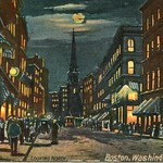 1106. Looking North. Boston, Washington Street by H. I. Robbins (1908)