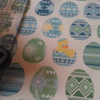Pysanky Chick fabric sample