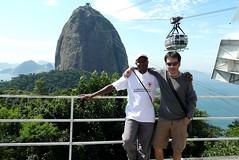 Rio de Janeiro sugar loaf tour. With 'Joao' from Angola