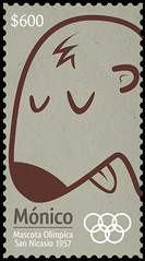 calligraphy(0.0), hairstyle(0.0), moustache(0.0), brown(1.0), postage stamp(1.0), font(1.0),
