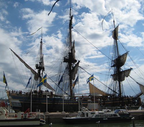 The Swedish Ship Gotheborg visits Helsinki